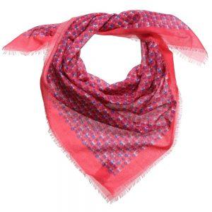 Fendi Pink Cotton 'FF Monster' Scarf (85cm)