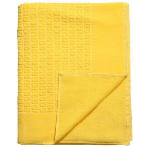 Fendi Yellow 'FF' Logo Cotton Towel (151cm)