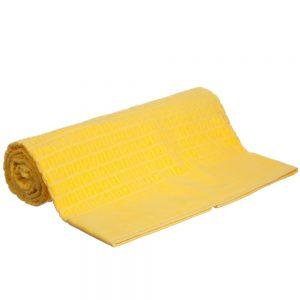 Fendi Yellow 'FF' Logo Cotton Towel (151cm)1
