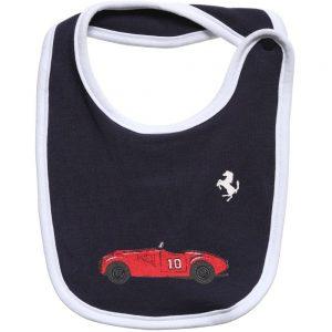 Ferrari Baby Boys Navy Blue Vintage Car Print Bib