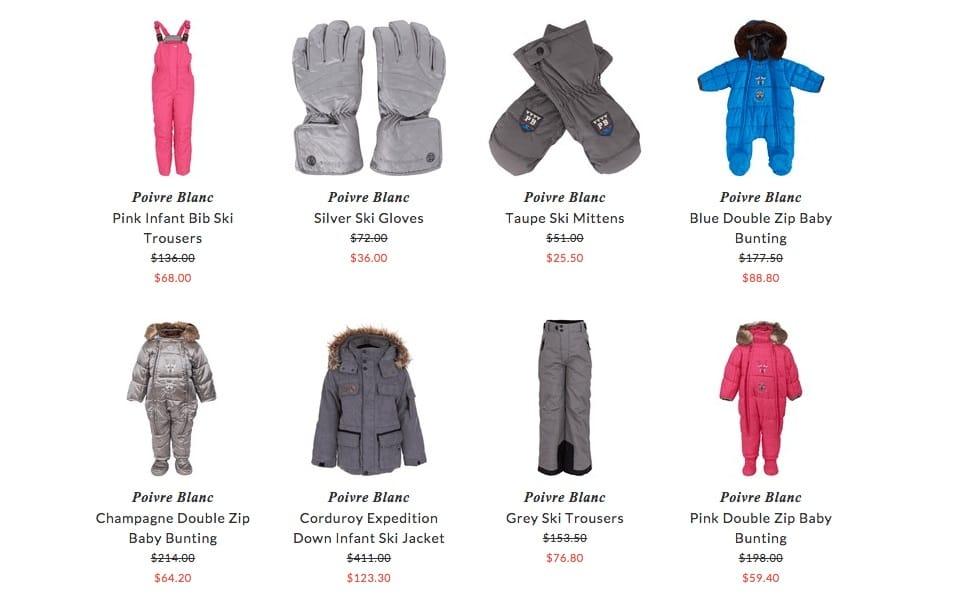Poivre Blanc kids clothing & accessories