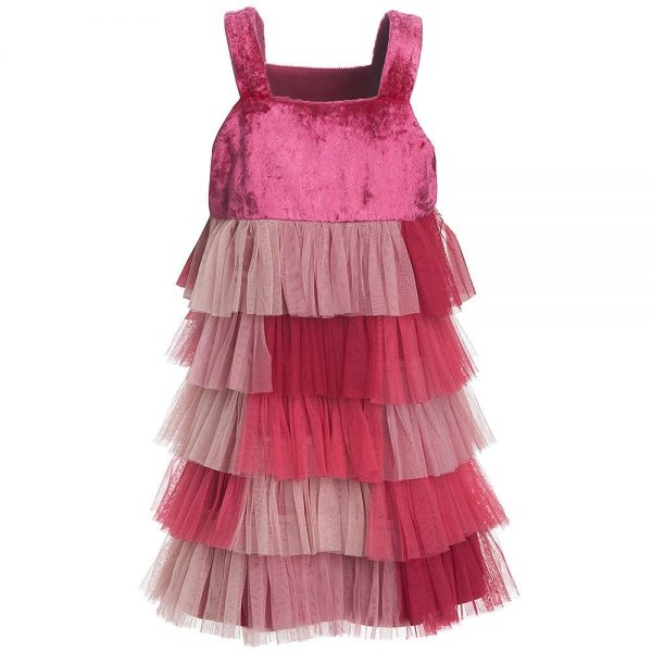 Quis Quis Pink Tulle Layered Dress3