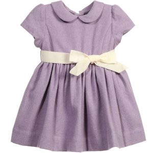 Ralph Lauren Baby Girls Lilac Wool Blend Dress & Knickers
