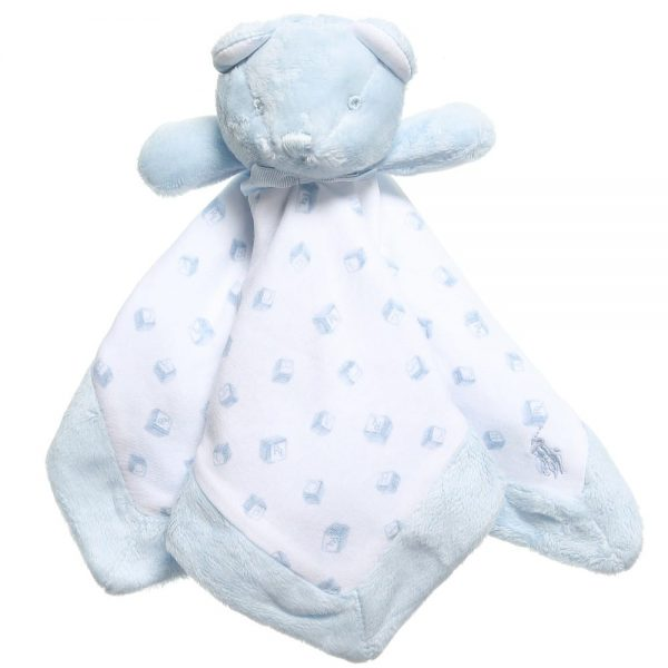 Ralph Lauren Baby Boys Pale Blue Bear Comforter (30cm)
