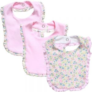 Ralph Lauren Baby Girls Pink Cotton Jersey Bibs (Pack of 3)