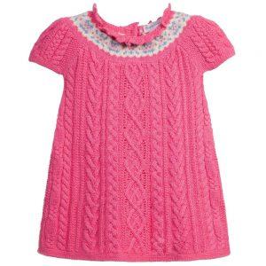 Ralph Lauren Baby Girls Pink Knitted Dress