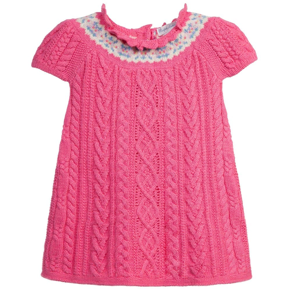 bcaab490d020 RALPH LAUREN Baby Girls Pink Knitted Dress - Children Boutique