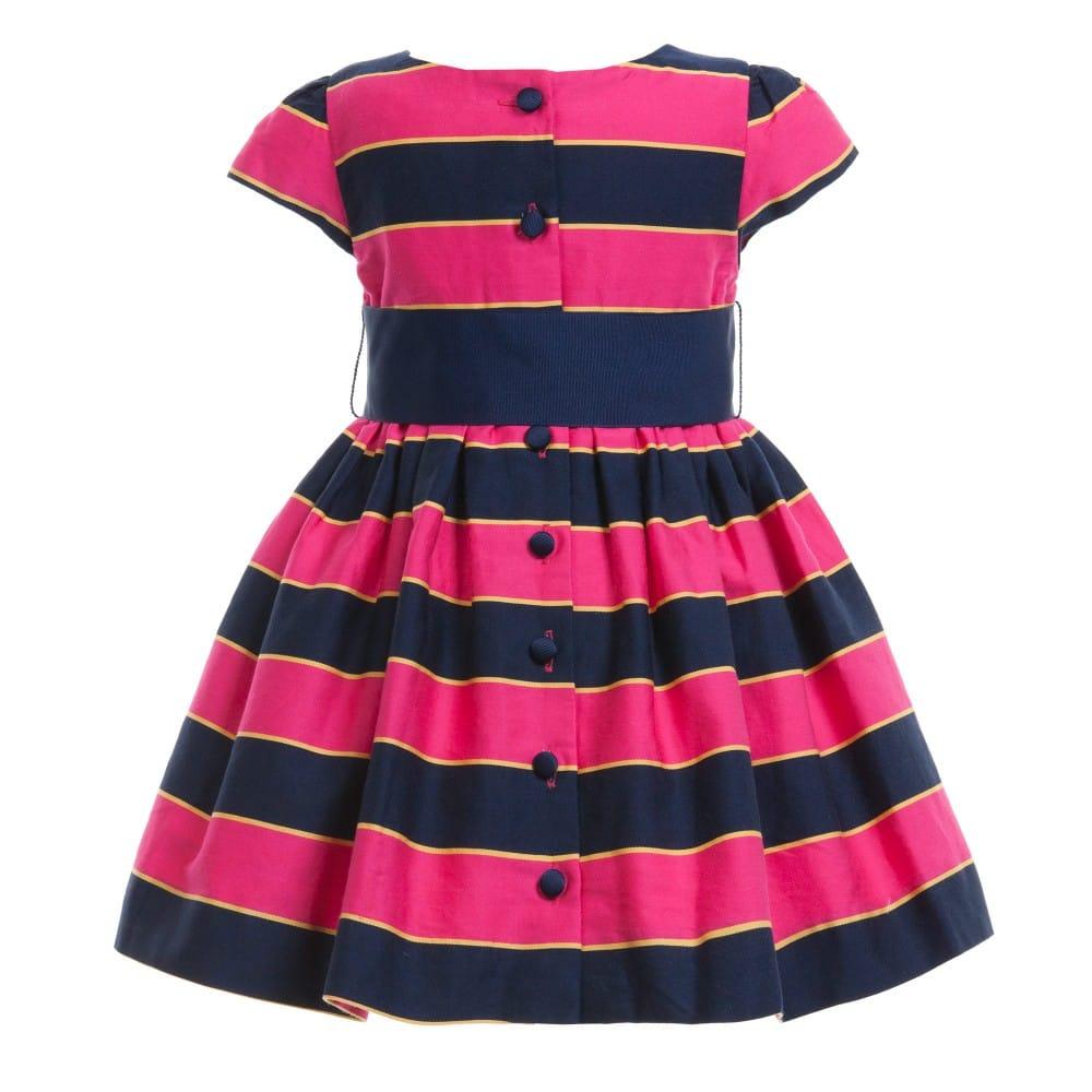 Ralph Lauren Baby Girls Pink Stripe Dress Knickers Children Boutique