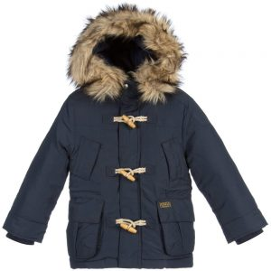 Ralph Lauren Boys Navy Blue Down Padded Parka Coat