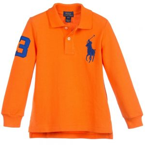 Ralph Lauren Boys Orange 'Big Pony' Polo Shirt