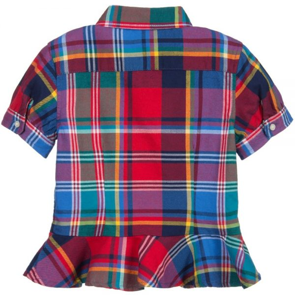 Ralph Lauren Girls Multicoloured Checked Cotton Blouse1