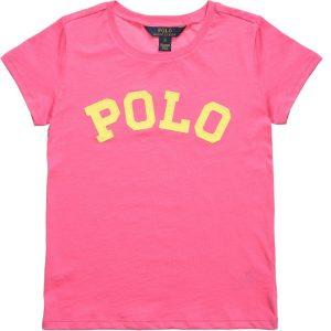Ralph Lauren Girls Pink Logo T-Shirt