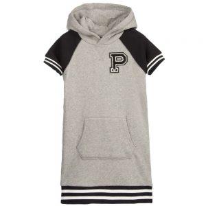 Ralph Lauren Grey Jersey 'RL Athletic Club' Sweatshirt Dress