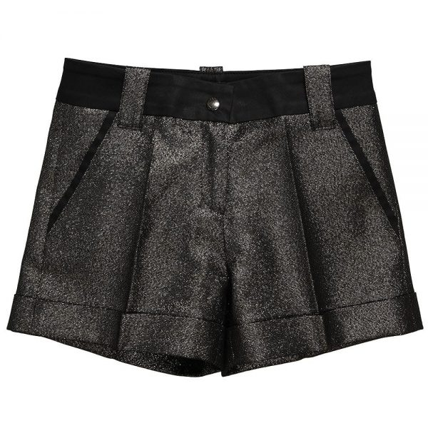 Richmond JR Girls Gold Shorts