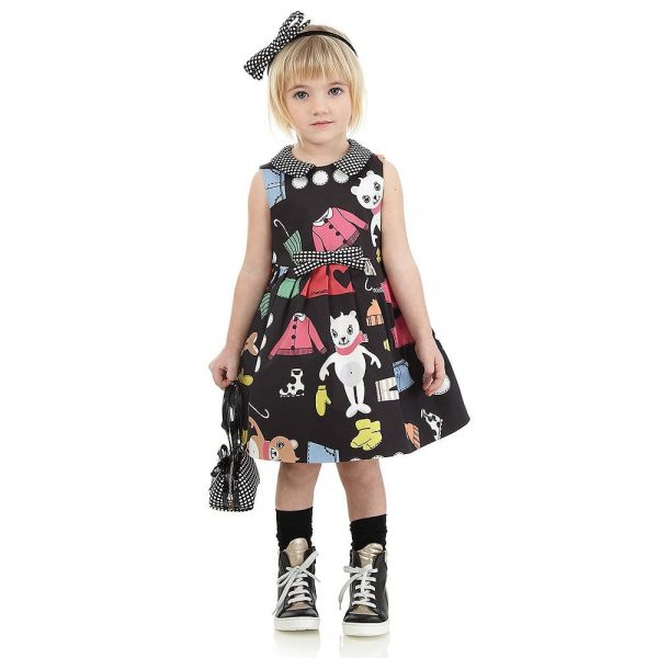 Simonetta Black and Gold Leather High-Top Trainers1