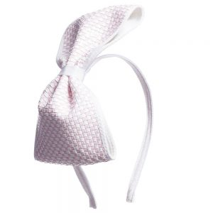 Simonetta Girls Hairband with Checked Bow