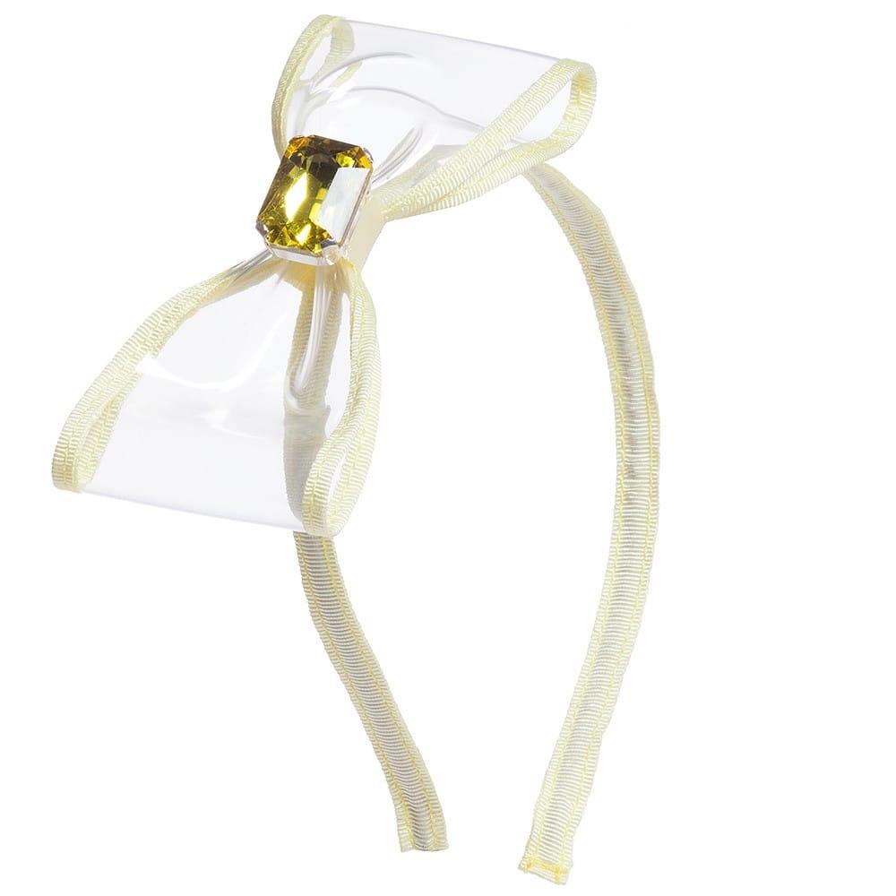 Simonetta Girls Yellow Large Bow Hairband