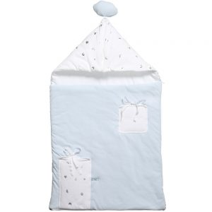 Simonetta Tiny Boys Blue Padded Baby Nest (80cm)