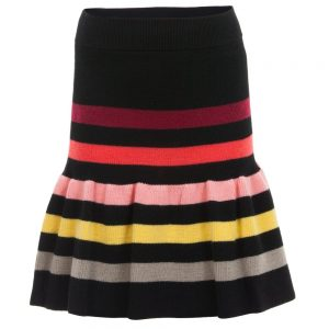 Sonia Rykiel Enfant Fine Knit Signature Stripe Mid-Length Skirt