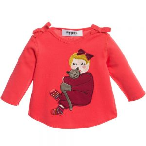 Sonia Rykiel Paris Baby Girls Coral Pink Cotton Top