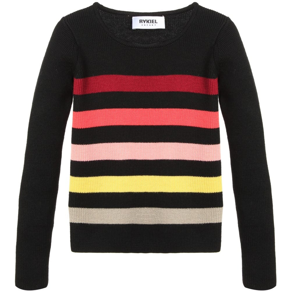 0ddd6b80be SONIA RYKIEL ENFANT Girls Fine Knit Signature Stripe Sweater ...