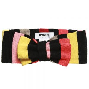 Sonia Rykiel Paris Girls Fine Wool Knit Signature Stripe Hairband