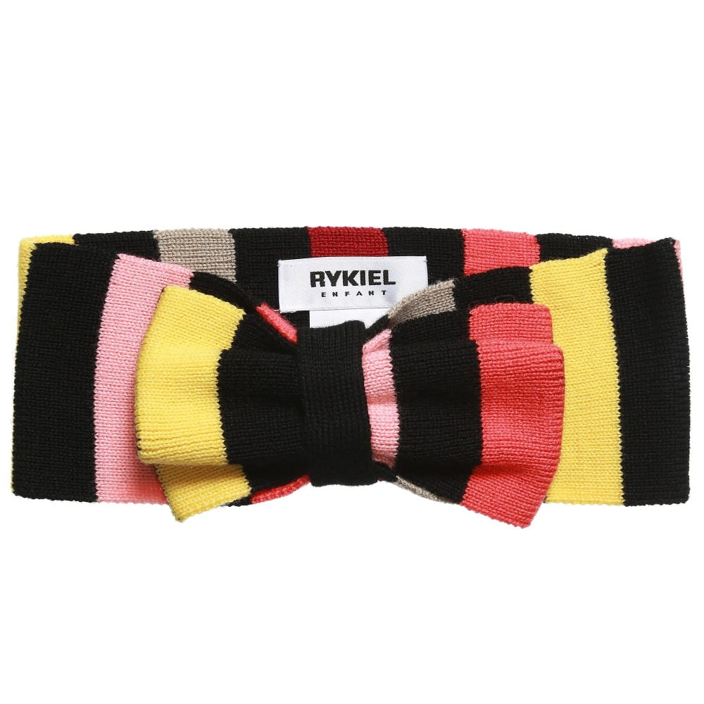 Sonia Rykiel Paris Girls Fine Wool Knit Signature Stripe Hairband