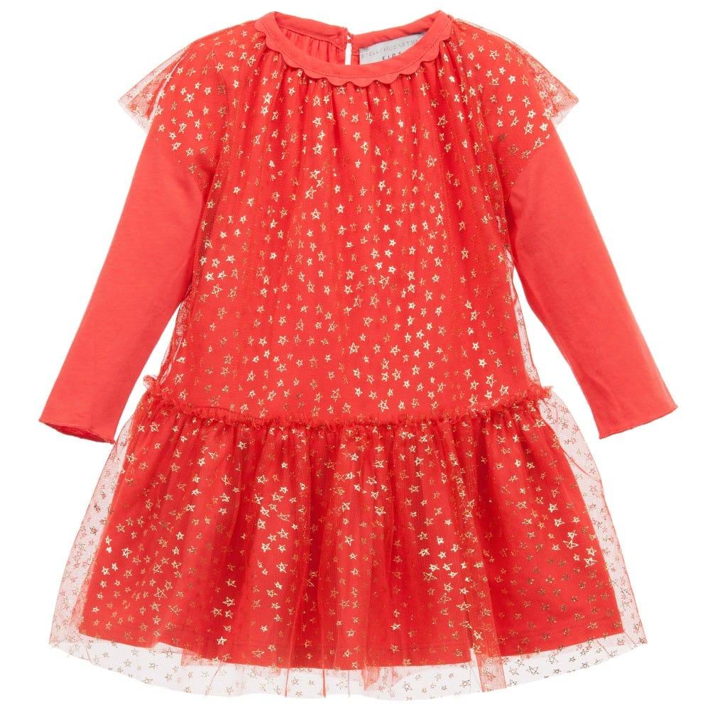 57ec246b97f STELLA MCCARTNEY KIDS Baby Girls Red Tulle   39 Mouse  39  Dress