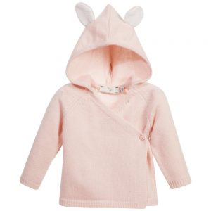 Stella Mccartney kids Baby Girls Pink Wool & Cashmere 'Smudge' Cardigan