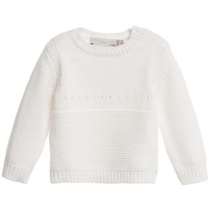 Stella Mccartney kids Babys Ivory Cotton Cashmere 'Thumper' Sweater