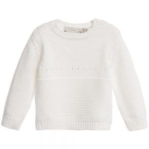 Stella Mccartney kids Babys Ivory Cotton Cashmere 'Thumper' Sweater
