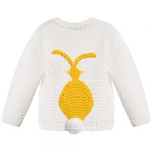 Stella Mccartney kids Babys Ivory Cotton Cashmere 'Thumper' Sweater1