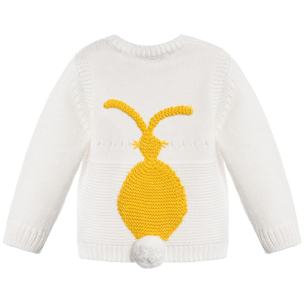 Stella Mccartney kids Babys Ivory Cotton Cashmere 'Thumper' Sweater1