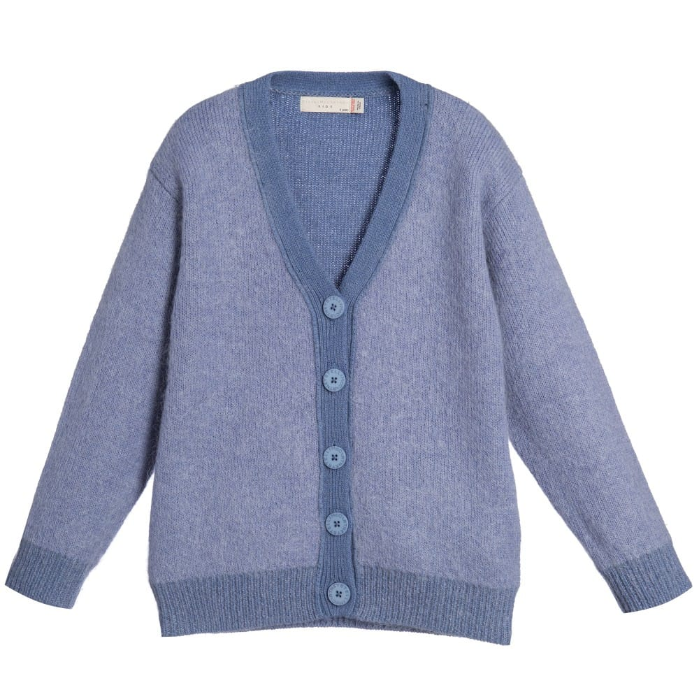 Stella Mccartney Kids Girls Pale Blue Mohair Blend Betsy