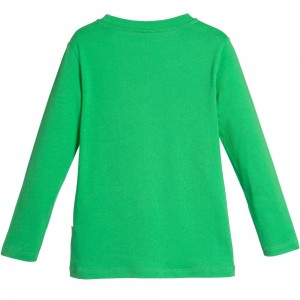 Stella Mccartney kids Green Hedgehog Organic Cotton 'Barley' Top2