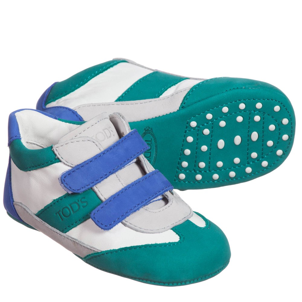 tods-baby-green-blue-pre-walker-trainers-1