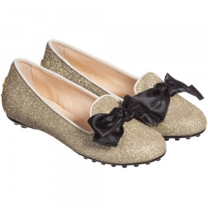 tods-girls-gold-glitter-shoes-with-bows-1