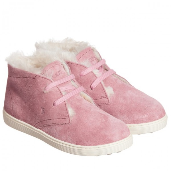 tods-girls-pink-suede-sheepskin-ankle-boots-1