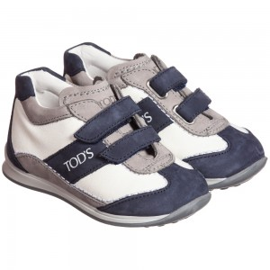 tods-grey-navy-blue-white-leather-velcro-trainers-1