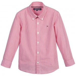 tommy-hilfiger-boys-red-stripe-cotton-shirt-1