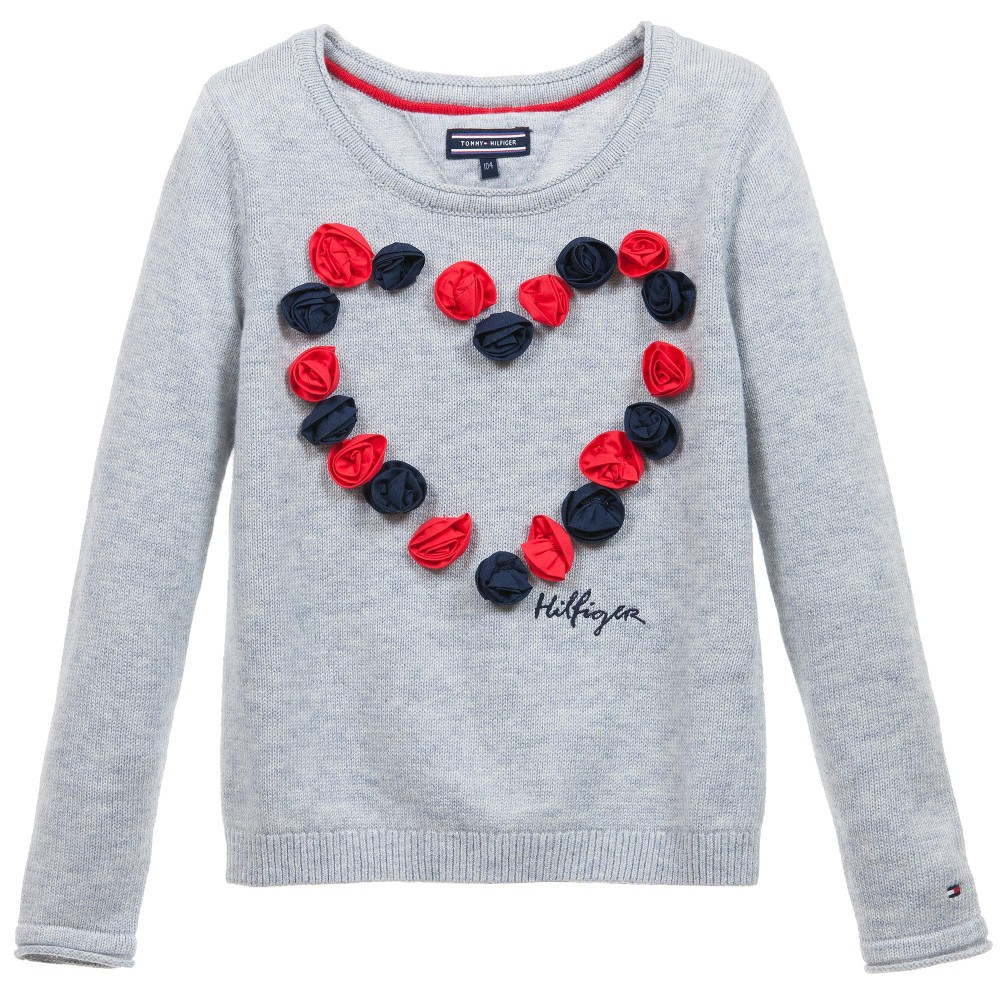 tommy-hilfiger-girls-grey-knitted-sweater-with-flowers-1