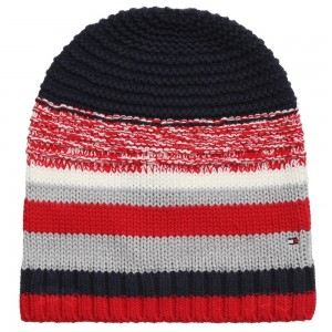 tommy-hilfiger-girls-red-navy-blue-striped-hat-1