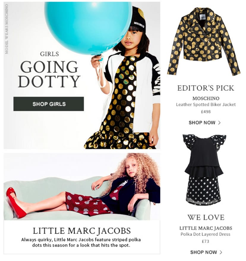 Girls Dotty look