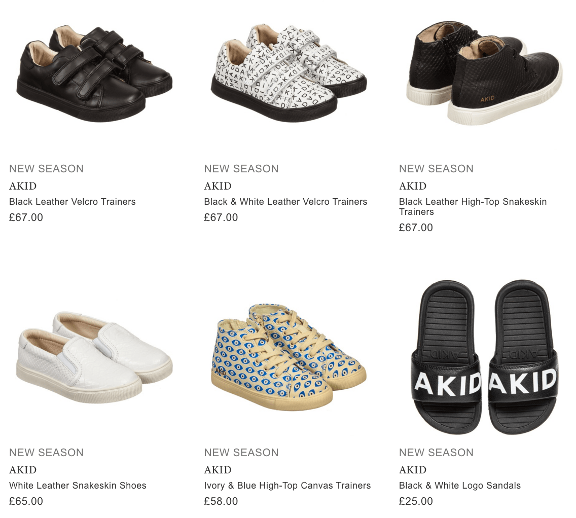Akid Kids Shoes