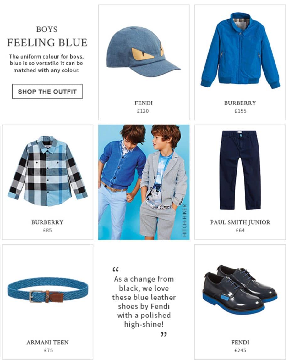 Boys Blue Colour Designers look