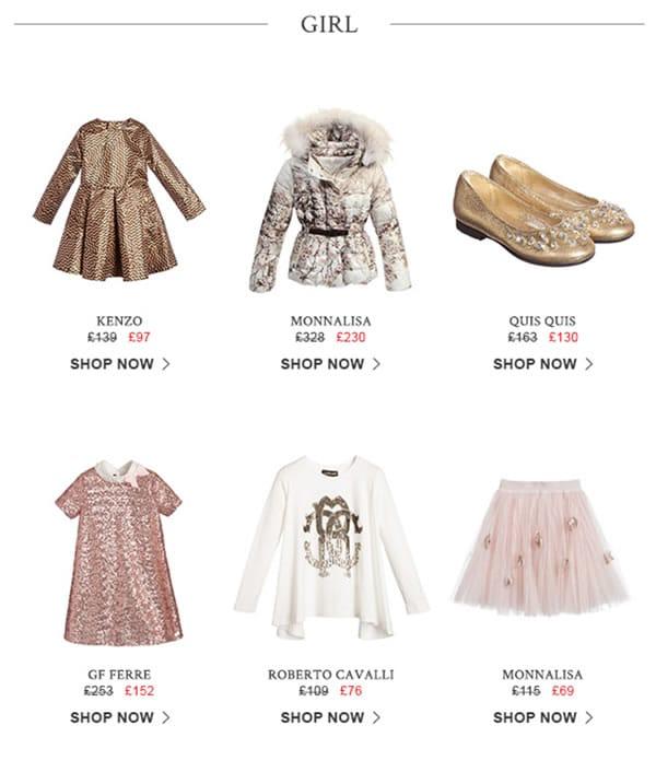 girls designers clothes sale