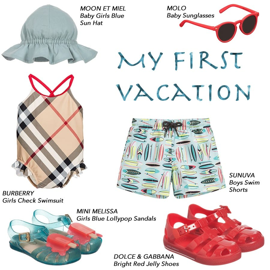 Children vacation clothing