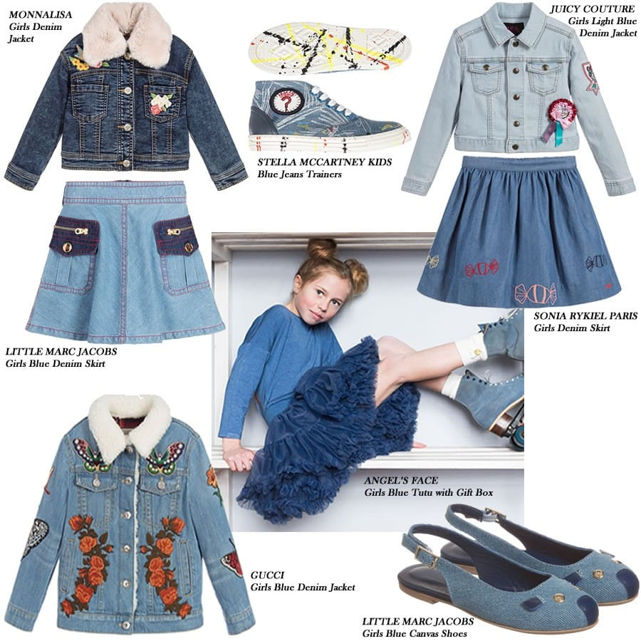 Jeans and Denim Coats, Skirts Shoes for girls